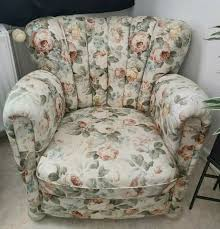 sessel vintage blumen retro floral blümchen polstersessel