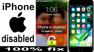 How to unlock disabled iPhone password locked iPhone 7 6s 6 SE 5s