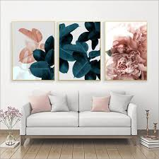 wall pictures for living room leaf cuadros picture nordic