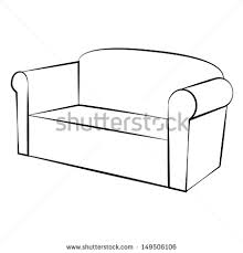 Drawn Couch Simple Many Interesting Cliparts