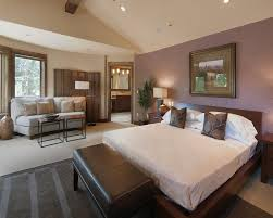 Room Partition Ideas Bedroom Contemporary With Leather Bench Earth Tones Purple Wall