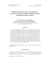 sem based structural and chemical analysis of paraffin wax and