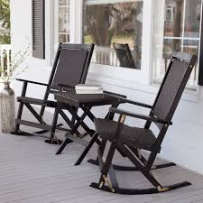 100 Wooden Outdoor Rocking Chairs Black Wicker Chair With Black Stained Based Combined
