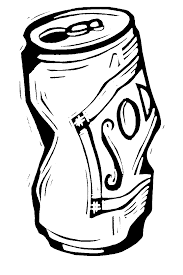 Soda Can Black And White Clipart