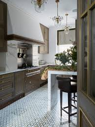 Kitchen Floor Tile Ideas Classic And Vintage Look With White Tiles In Black Floral Motif An Unique Beautifull To Apply On Your
