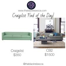 craigslist find of the day cb2 club 3 seater sofa the black rebecca
