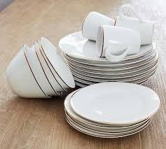 Gigi Gold Rim Dinner Plate Set of 4