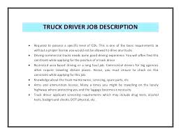 Truck Driver Resume Sample Templates Example Cdl