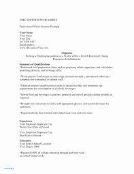 Cocktail Waitress Resume Example Sample Restaurant Hostess Document Refrence
