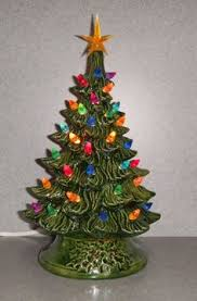 Ceramic Lighted CHRISTMAS TREE 11 Inches By SueSueSueCrafts 4900