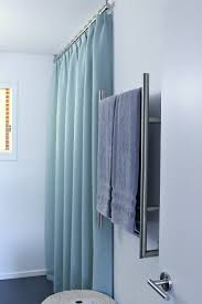 Ceiling Mount Curtain Track by Bathroom Update Ceiling Mounted Shower Curtain Rod Turquoise