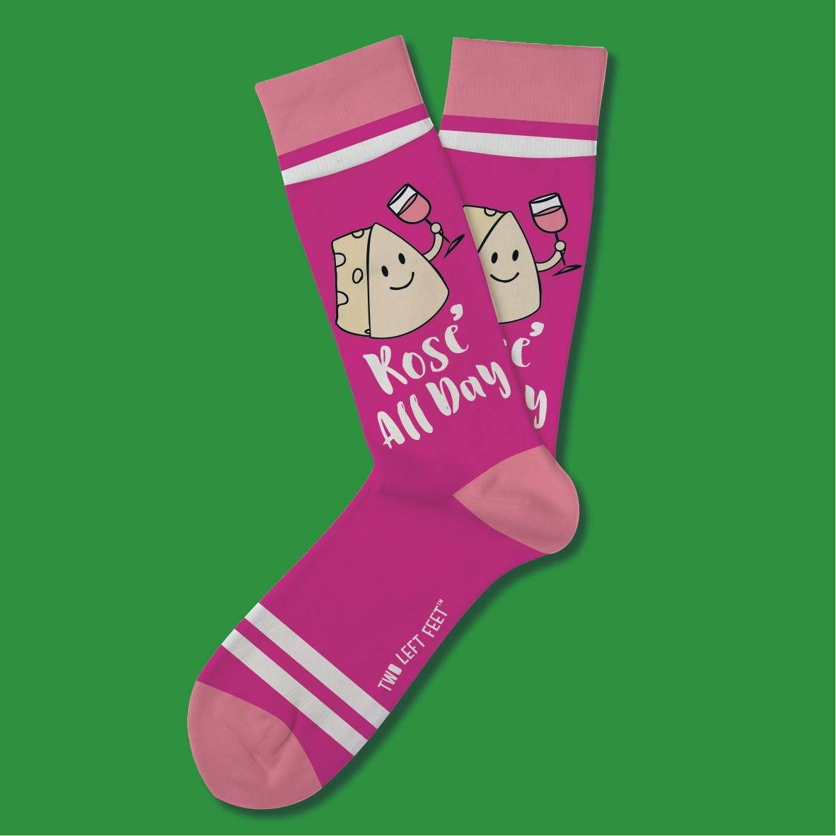 Two Left Feet Sock Co. Women's Sock Pink 'Rose All Day' Socks S/M