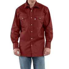 carhartt snap front twill work shirt for men