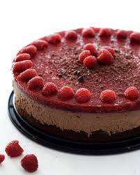 himbeer mousse au chocolat torte