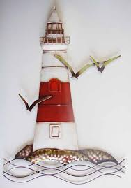 Wall Art Design Ideas Decor Multi Lighthouse Metal Wall Art