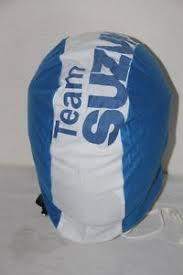 team suzuki housse de casque moto bleu blanc neuf ebay