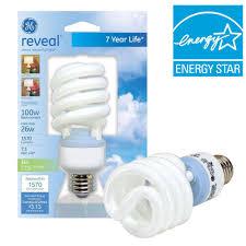ge 26 watt 100w spiral compact fluorescent light bulb e