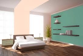 chambre taupe et vert peinture vert pastel peinture vert du002639eau murale du00e9cohom