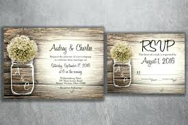 Idea Affordable Rustic Wedding Invitations For Mason Jar Baby S Breath Flowers Invitation Set
