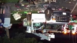 Motor Vehicle Accident Rips Side Of Comcast Bucket Truck In Waterbury