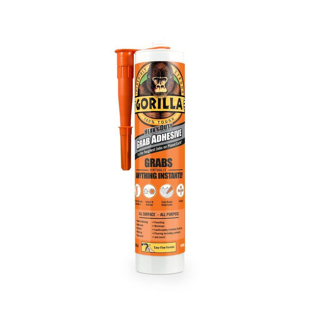 Gorilla Glue Grab Adhesive - Heavy Duty, White, 290ml