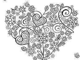 Hearts Coloring Pages 2 Pictures To