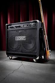 Fender 2x10 Guitar Cabinet by Fender Rumble 350 Bass Combo Amp Zzounds