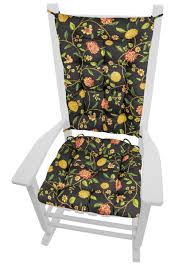 Nassau Vine Black Rocking Chair Cushion Set - Latex Foam Fill ... Rocking Chair Cushion Sets And More Clearance Pillows Levo Baby Rocker In Beech Wood With Hibiscus Flower Patio Fniture Cushions At Lowescom Chablis Rose Latex Foam Fill Reversible Surprising Pad Set For Your Home Design Ideas Interesting Glider Elegant Armchair Decor Awesome Comfortable Add Comfort Style To Favorite Amazoncom Barnett Child Seat And Indoor Cracker Barrel