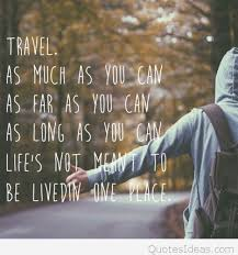 Inspirational Travel Quote With Wallpaper