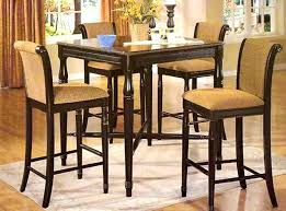 5 Piece Counter High Dining Set Table And 4 Barstools Top Kitchen Sets Tall Chairs Height