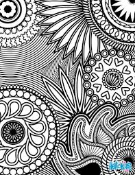 Adult Coloring Pages Paisley Hearts And Flowers Anti Stress