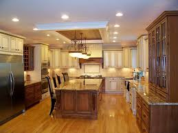 how far away from the wall should recessed lighting be kitchen