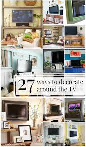 Incorporate And Decorate Around The Television