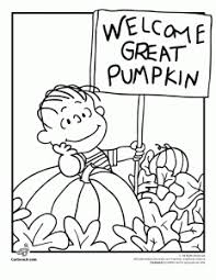 Linus Great Pumpkin Image by It U0027s The Great Pumpkin Charlie Brown Coloring Pages Woo Jr