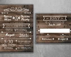 Country Wedding Invitations Rustic Invitation Burlap Kraft Wood Affordable
