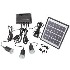 outdoor solar power panel led light l usb charger home system