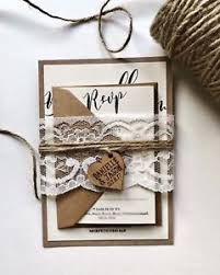 Image Is Loading Rustic Wedding Invitations Barn Shabby Chic Twine
