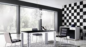 esszimmer design ideen spannende schwarz weiß kontraste setzen