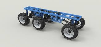 100 Truck Chassis 6x6 For Mud Truck 3D Model CGTrader