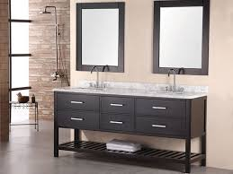 Trough Bathroom Sink With Two Faucets Canada by Bathroom Sink Interior Long Black Wooden Two Silver Steel Faucet