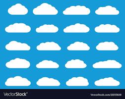 100 Flat Cloud White Flat Clouds