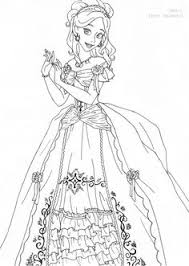 Giselle Deluxe Gown Lineart By LadyAmberdeviantart On DeviantArt