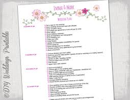 Wedding Checklist To Do List Planner Timeline