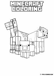 Minecraft Coloring Animal Mob 1 131 X 600 Bildepunkter