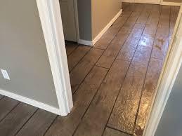 Linoleum Flooring That Looks Like Wood by All Around Surfaces Wood Look Concrete Overlay Flooring