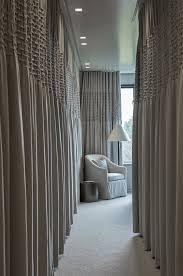 Cubicle Curtain Track Singapore by Ripplefold Panels Across Corridor Of Closets Doors Windows