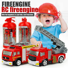 100 Fire Trucks Toys US 1242 36 OFFRC Car Simulation Mini Engine Truck For Children Toy Rechargeable Remote Control Ladder RC Truck In RC