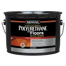 Applying Minwax Polyurethane To Hardwood Floors by Minwax 2 5 Gal Gloss Super Fast Drying Polyurethane For Hardwood