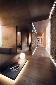 indirekte beleuchtung trennwand braun wohnzimmer holz boden