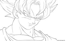 Coloriage Goku Ssj4